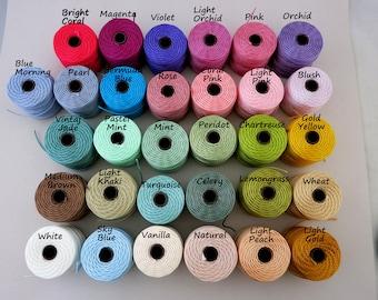 S-Lon Tex 400 Beading Cord, Kumihimo, Macrame, Crochet Cord, 0.9mm Diameter, 35 Yard Spool, Spring Colors, Pastel & Bright Colors