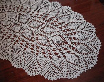 Crochet Table Runner. cotton home decor. Lace crochet doily, table runner. rectangle doily. READY TO SHIP