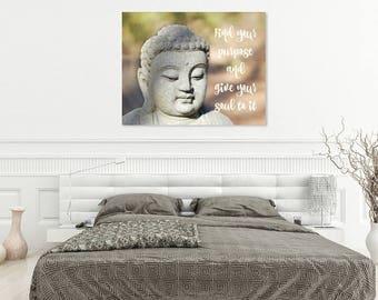 Zen Decor | Zen Wall Art | Meditation Room Art | Buddha Wall Art | Yoga Room | Yoga Wall Art | Inspirational Quotes | Inspirational Wall Art