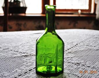 Wheaton Green  Octagon Bottle