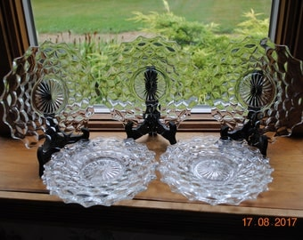 Fostoria The American Pattern in The Clear 6 Salad Plates
