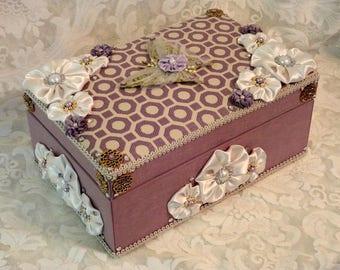 Fabric Covered Keepsake Box