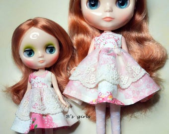 Middie Blythe Party dress Pink & Lace