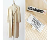 vintage Jil Sander angora and silk coat / size medium large