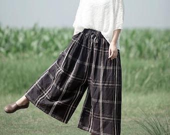 Loose wide leg pants women Leisure trousers Women large size pants