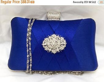 wedding clutch, formal clutch, Royal blue clutch, evening bag, bridesmaid clutch, bridesmaid bag, crystal clutch