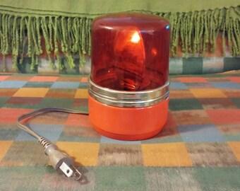 Sasaki Red Warning Light, Vintage Warning Light, Electric Patlife Safety Light, Working Red Warning Light, Disco Light, Emergency Light