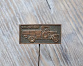 "Vintage Soviet Russian copper badge.'"" Soviet Russian truck AMO-F15 1924"""