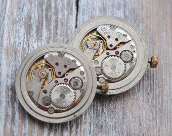 VOSTOK Vintage Soviet Russian wrist watch movement.