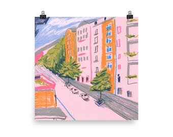 "Berlin, Germany illustration Art Print 10"" x 10"""