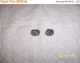 TWICE A YEAR, 25% Off Vintage Basket Wave earrings. Sterling silver.