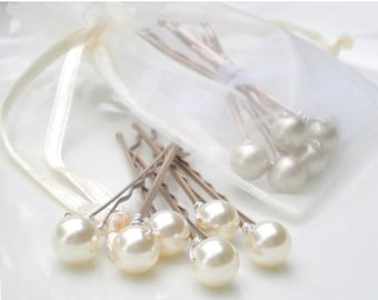 ON SALE Ivory Bridal Pearl Hair Pins... Bride Maid Gift. Hair Jewelry. Chic Wedding Hair Pin Accessory