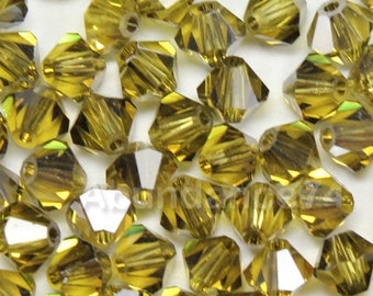 Swarovski Elements Crystal 5301 3mm Bicone Beads LIME SATIN ( Clearance ) Select Quantity