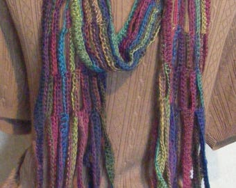 Crocheted Scarf of Many Colors