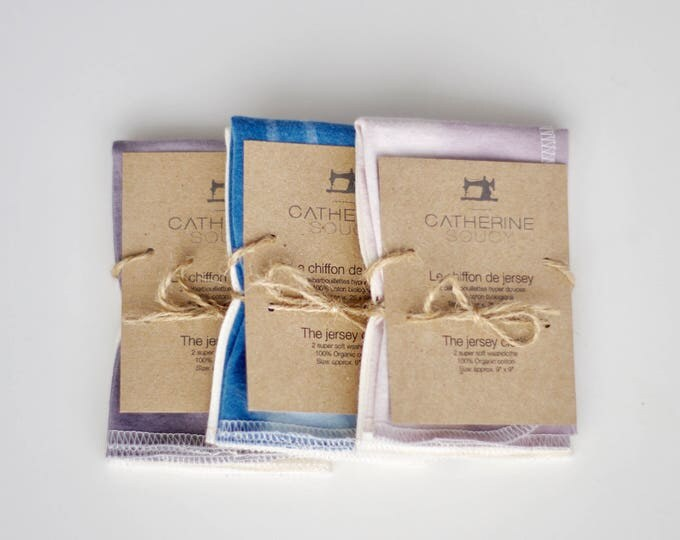 The jersey cloth - Soft organic cotton jersey washcloths - 2 pack