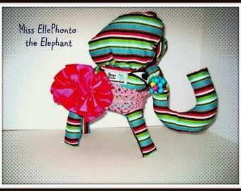 Gag gift, Stuffed toy elephant , artsy gift , Stuffed Elephant,  Plush elephant  -