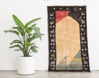 ASEF 3x5.5 Hand Knotted Persian Gabbeh Rug