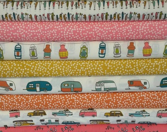 Camp Sur ORGANIC FABRIC Girl Bundle from Birch Organic Fabrics (10 Fabrics Total)