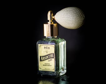 Refill- Absinthe Tonic - Clove Bergamot Perfume - Rose Lavender Citrus - Atomizer Bottle -1 oz