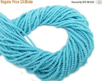 10% off Memorial Day Chinese Crystal Beads - 2mm Sky Blue Chinese Crystal Rondelle Beads - 1 STRAND (S116b7-02)