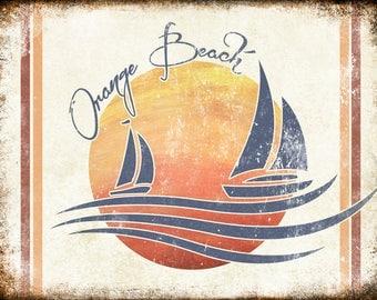 "Orange Beach, Alabama  // Metal Sign // 12"" x 16"""