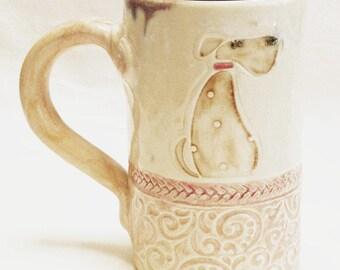 dog ceramic 16oz coffee mug stoneware 16D052