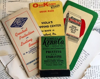 Vintage Advertising notepads scratch pads promtional