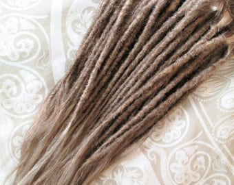 """CUSTOM Human hair dreadlock extenders extensions, 20"""" hair, 20 pcs"""