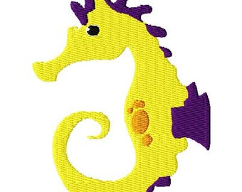 Seahorse Machine Embroidery Design - Instant Download