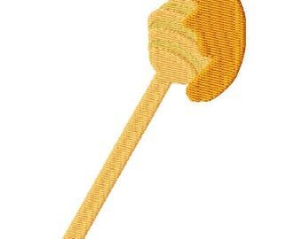 Honey Dipper Machine Embroidery Design - Instant Download