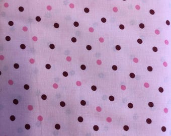 FabricFreedom Pink Spotty 100% Cotton poplin by the half metre