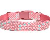 "Mermaid Tail Dog Collar 3/4"" or 1"" Ocean Dog Collar Summer Dog Collar Mermaids Dog Collar"