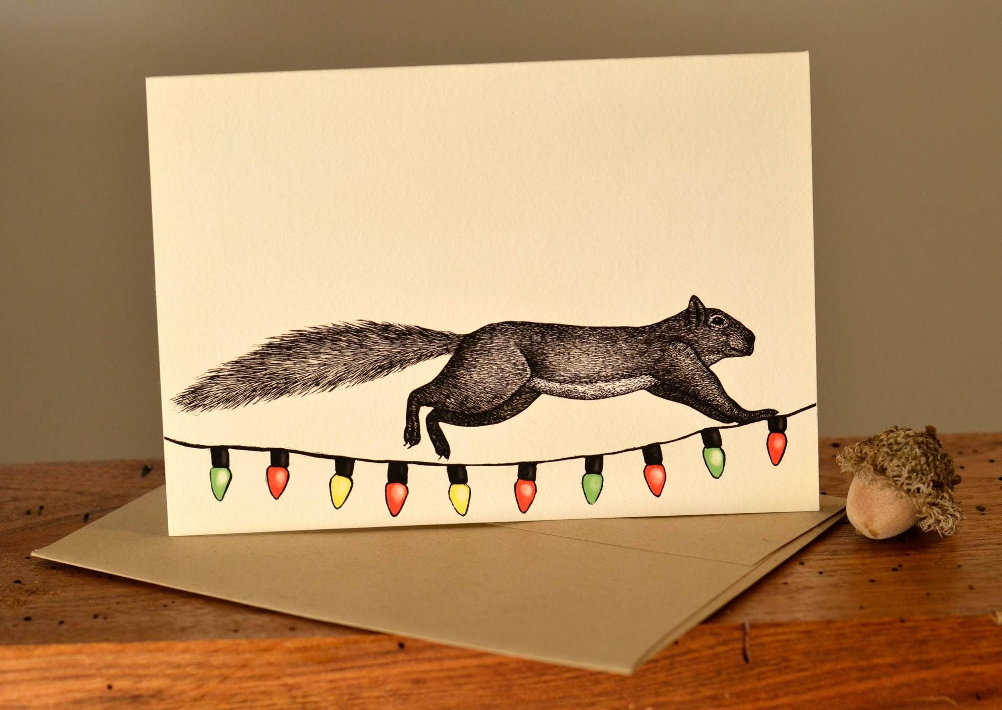 Eco friendly squirrel holiday greeting card kristyandbryce Images