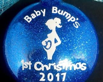 Pregnancy Ornament Baby Bump Ornament Pregnancy Announcement