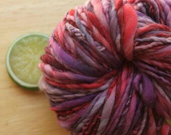 Mixed Berry - Handspun Merino Wool Purple Pink Yarn Wool Heavy Worsted Weight