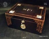 Humidor Handcrafted in the U.S - Free Engraving and Free Shipping in the U.S. HD75