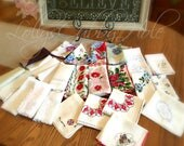 Reserved for Sue - Vintage Hankies - Craft Cutter - Happy Tears - Farmhouse Style