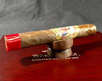 Cigar Stand Woodturned Walnut