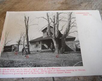Vintage RPPC Real Photo Postcard - Blennerhasset Home Parkersburg WV