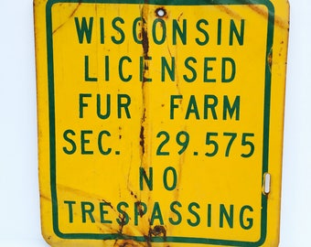 Wisconsin Farming Sign