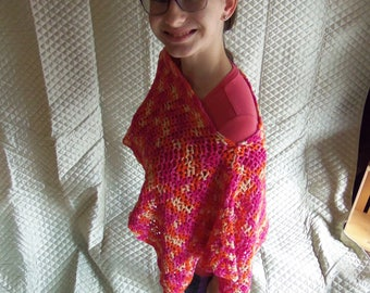 Crocheted off the Shoulder Shawl