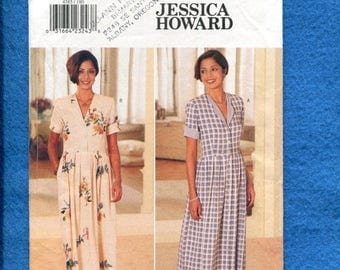 15% OFF SALE Butterick 4385 Designer Jessica Howard Loose Fitting Front Button Dress with Shoulder Pads Sizes 18..20..22 UNCUT