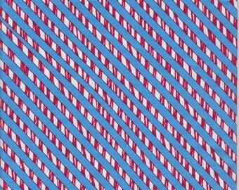 Red, white and blue diagonal stripe, Hi-Fashion Fabrics #HF-C4581, candy cane stripe fabric, Holiday cotton stripe fabric