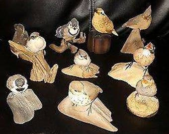 10 danbury mint song birds lot