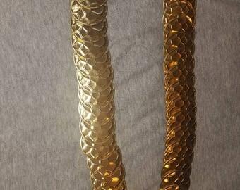 Vintage gold stretch belt