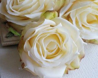 7 cm Forest Series Big Rose Silk Flower/ Artificial Flowers/wedding/ Flower crown /Flower Bouquet/ Brooch/Tutu/Hat /Shoe accessories(t.a)