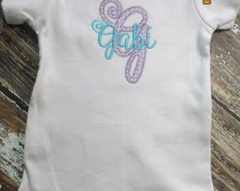 Personalized Baby Girl Bodysuit