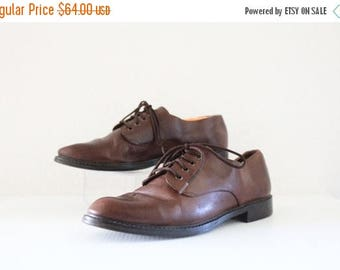 SALE zodiac cocoa leather lace ups / 8.5
