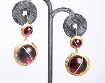 Antique 15K Garnet Earrings