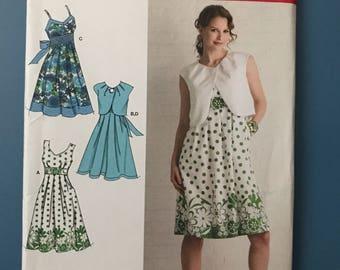Simplicity Womens Dress Pattern 2886 Uncut U.S. Size 6,8,10,12,14